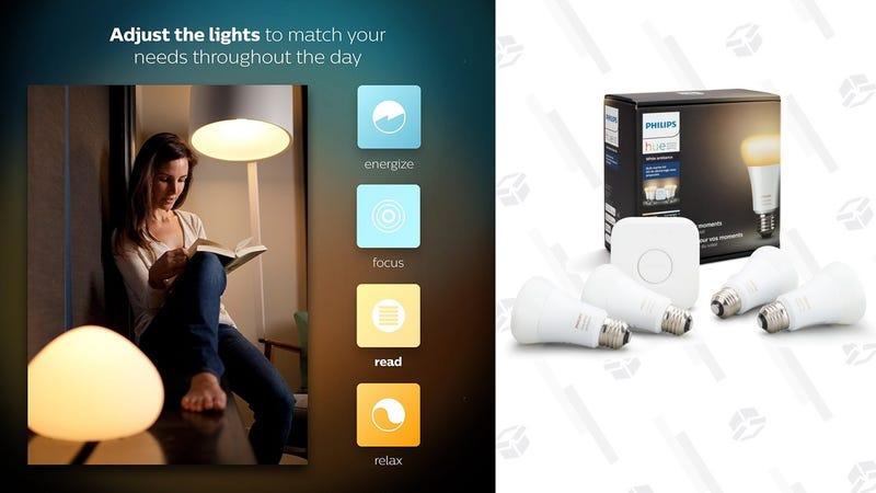 Philips Hue White Ambiance Smart Bulb Starter Kit | $120 | Amazon