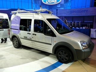 Illustration for article titled Chicago Auto Show: 2009 Ford Transit Connect Variants Take Bow