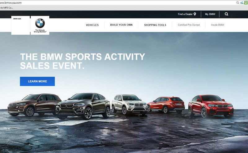 Illustration for article titled OF COURSE this would be BMW USA's home page
