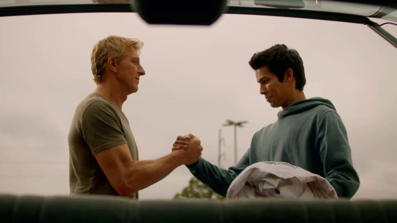 Johnny Lawrence (Billy Zabka) has got himself a Daniel-San (Xolo Maridueña) in Cobra Kai.
