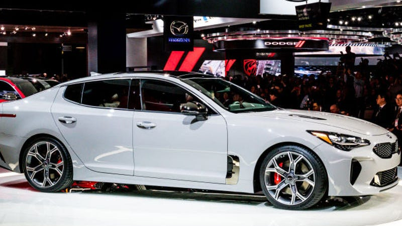 the kia stinger gt can haul ass to 60 mph in under five. Black Bedroom Furniture Sets. Home Design Ideas