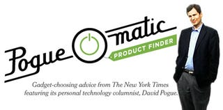 Illustration for article titled NY Times' Pogue-O-Matic Guides Your Gadget Shopping, Sets My Heart Aflutter