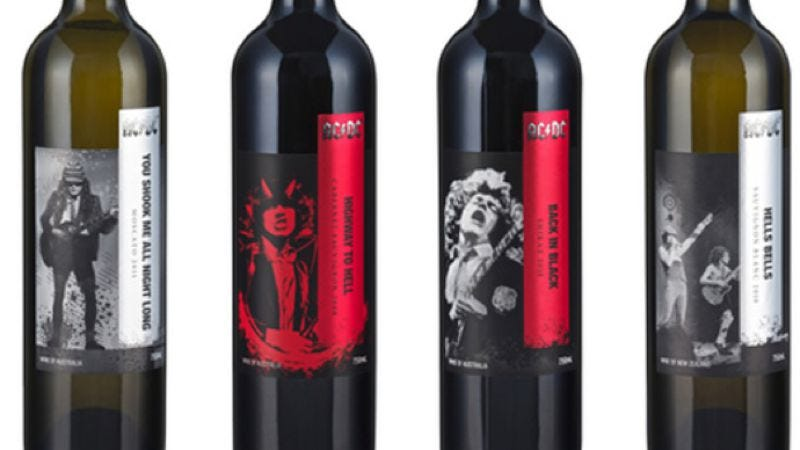Illustration for article titled AC/DC has its own line of wines now