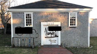 Racist, sexually explicit graffiti was scrawled across the African Meeting House on Nantucket, Mass.