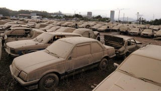 Illustration for article titled 1,500 cars flooded sitting in city impound lot