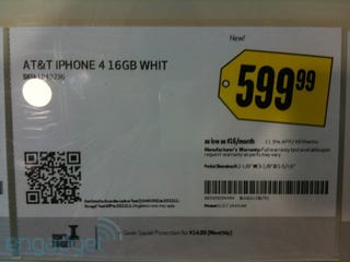 Illustration for article titled Best Buy Placard Hints White Off Contract iPhone Coming Soon