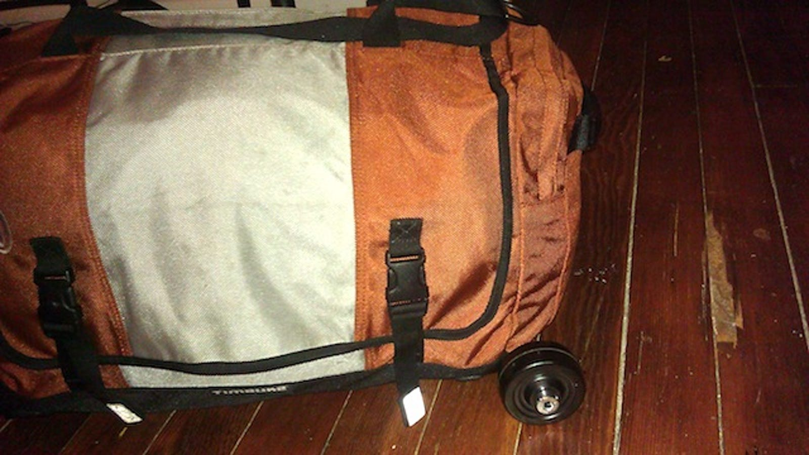 0ce1f7d227 Add Detachable Wheels to Duffel Bag for a DIY Rolling Suitcase