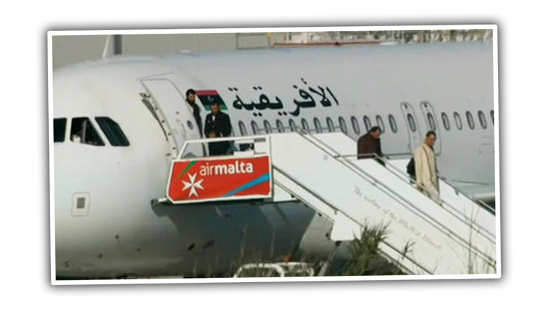Illustration for article titled Libyan Plane Hijacked To Malta, Passengers Released