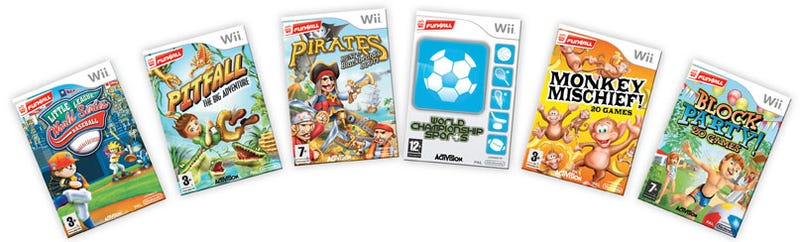 Illustration for article titled Activision Hastily Tosses Together Fun4All Wii Label
