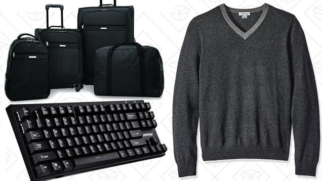 Today's Best Deals: Mechanical Keyboards, Affordable Luggage, Cashmere, and More