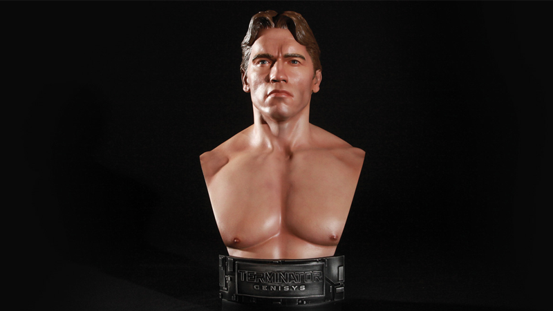 Illustration for article titled This Terminator Statue Is Straight-Up a Bust of a Young, Nude Arnold Schwarzenegger