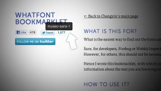 Illustration for article titled WhatFont Bookmarklet Identifies Fonts As You Browse with One Click