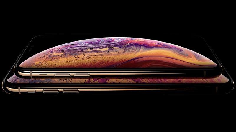 Una imagen oficial de los nuevos iPhone Xs y Xs Max extraída de la web de Apple