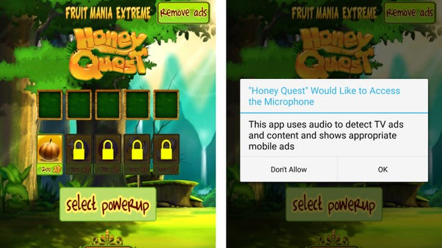 Hundreds of Creepy Mobile Games Can Use Your Mic to Track What You Watch on TV