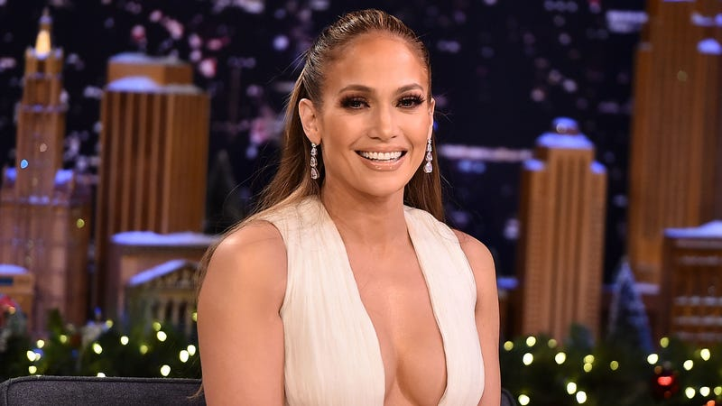 Jennifer Lopez Visits 'The Tonight Show Starring Jimmy Fallon' on December 11, 2018 in New York City.