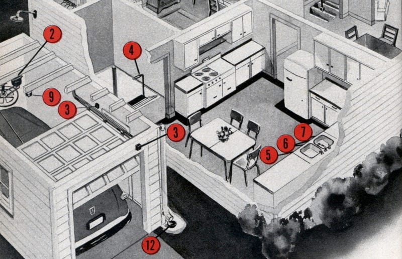 Illustration for article titled 1950s Homes of the Future Were Going to Push-Button All The Things
