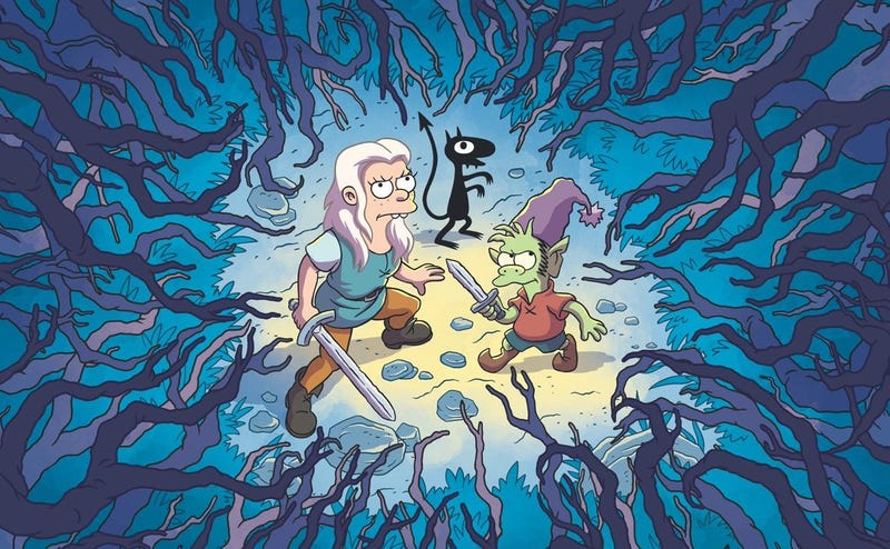 Illustration for article titled Disenchantment, la nueva serie del creador de Los Simpson, llegará a Netflix en agosto