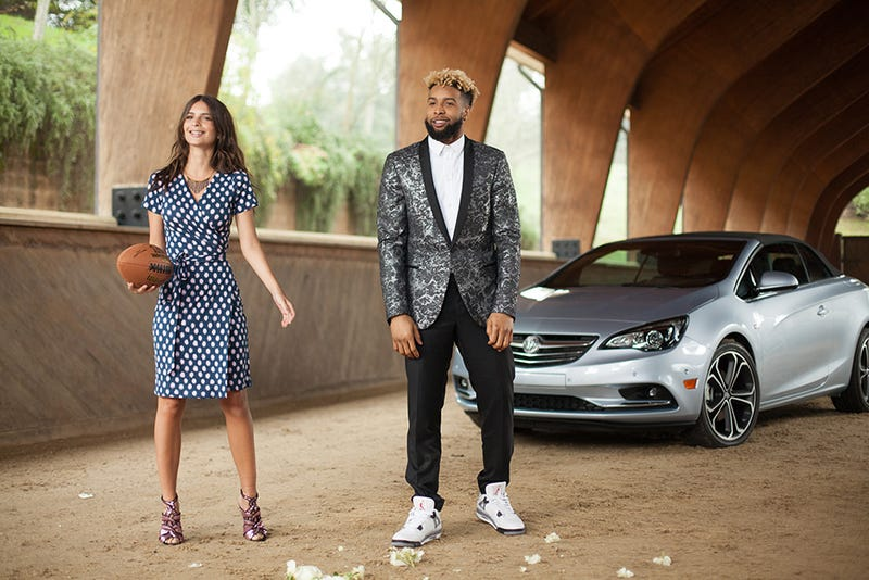 Illustration for article titled Buick is going to sell us the Cascada with Odell Beckham Jr., Emily Ratajkowski, and Air Jordans