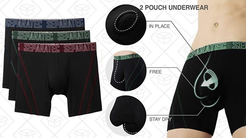 3-Pack Separatec Dual Pouch Boxer Briefs | $24 | Amazon