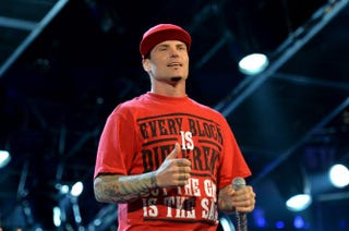 Vanilla Ice performs at the State Farm All-Star Saturday Night during the NBA All-Star Weekend 2014 at the Smoothie King Center Feb. 15, 2014, in New Orleans.Mike Coppola/Getty Images