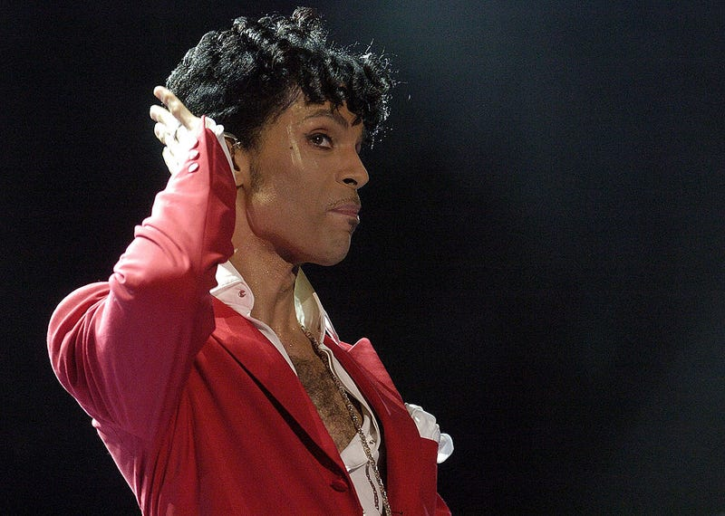 Prince performs at the 10th Anniversary Essence Music Festival at the Superdome on July 2, 2004, in New Orleans. (Chris Graythen/Getty Images)