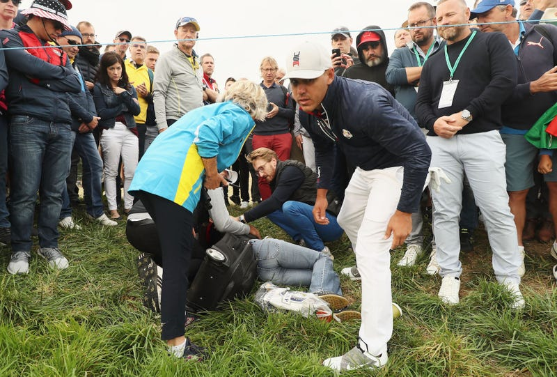 Illustration for article titled Woman At Ryder Cup Gets Hit With Brooks Koepka Shot, Says Her Eyeball Exploded