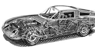 Illustration for article titled Shin Yoshikawa Is The Undeniable Master Of Automotive Cutaway Art