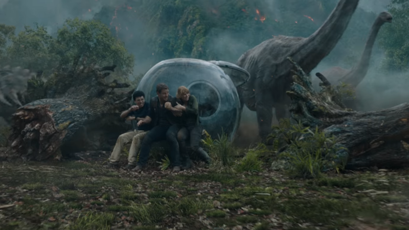 Jurassic World: Fallen Kingdom Is All About Saving the Dinosaurs... and a Big-Ass Volcano