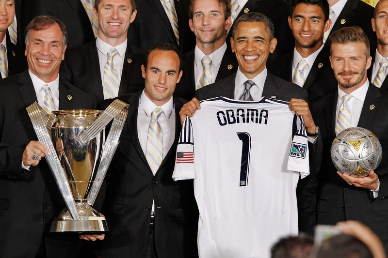 Illustration for article titled The Los Angeles Galaxy Was Extremely Happy To Visit The White House