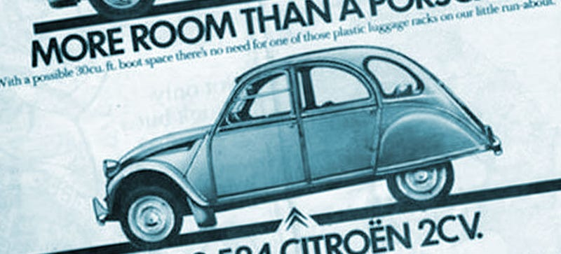 Illustration for article titled This Old 2CV Ad Is Just Fantastic