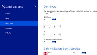 Illustration for article titled How to Disable Notifications By App or Time in Windows 8.1