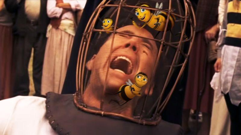 """""""Not the Bee Movie bees! Aaaggghhhhh!"""" (Photo illustration: Nick Wanserski)"""