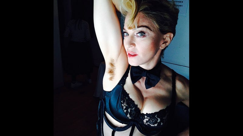 Illustration for article titled Madonna Instagrams Photo of Her Armpit Hair, Internet Loses Its Mind