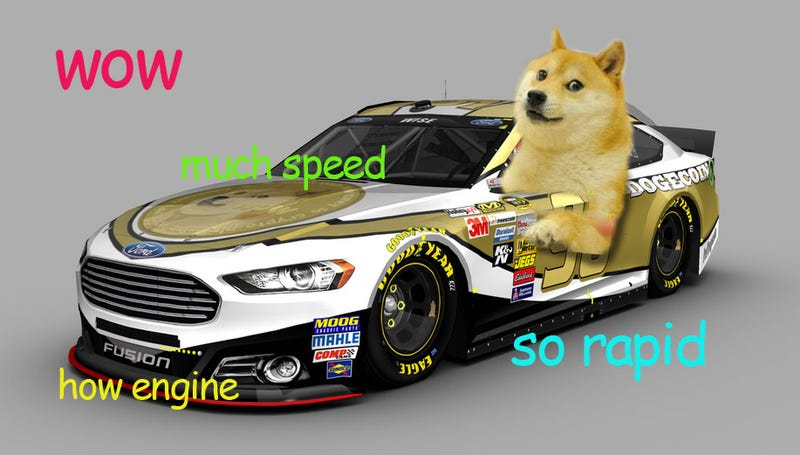 Illustration for article titled Doge And Dogecoin Are Actually, Really Headed To NASCAR