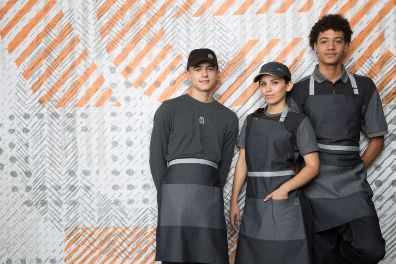 The no-shit new uniforms for McDonald's employees that you'll begin seeing in the United States this month (McDonald's)