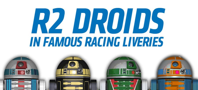 Illustration for article titled Here's That Poster Of R2 Droids In Racing Livery You Probably Wanted