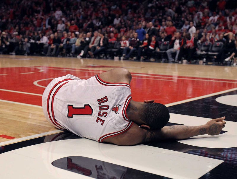 Illustration for article titled Derrick Rose To Writhe In Pain On Floor For Remainder Of NBA Playoffs