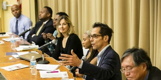 Panelists at Tuft University's National Dialogue on Race Day (Alonso Nichols/Tufts University)