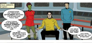 Illustration for article titled Webcomic Boldly Gone follows an average Starfleet captain with a major case of Kirk-envy