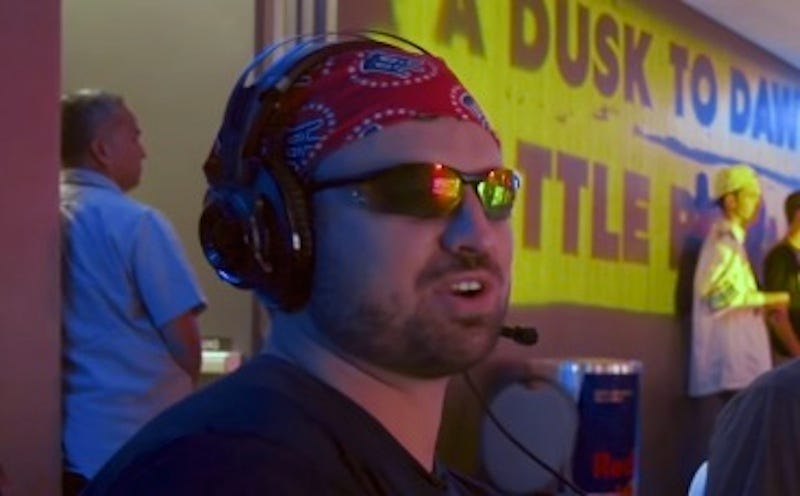 """Illustration for article titled Barstool Sports Chud Has Heated Gaming Moment, Tells Virtual Joel Embiid To """"Go Back To Africa"""""""
