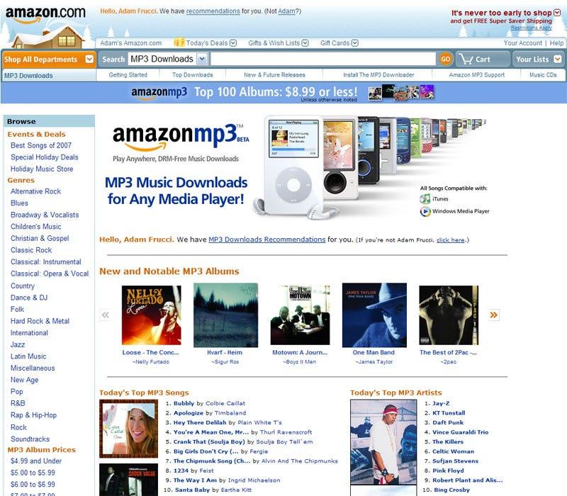 Amazon vs  Wal-Mart: MP3 Store Showdown Before iTunes Final Battle