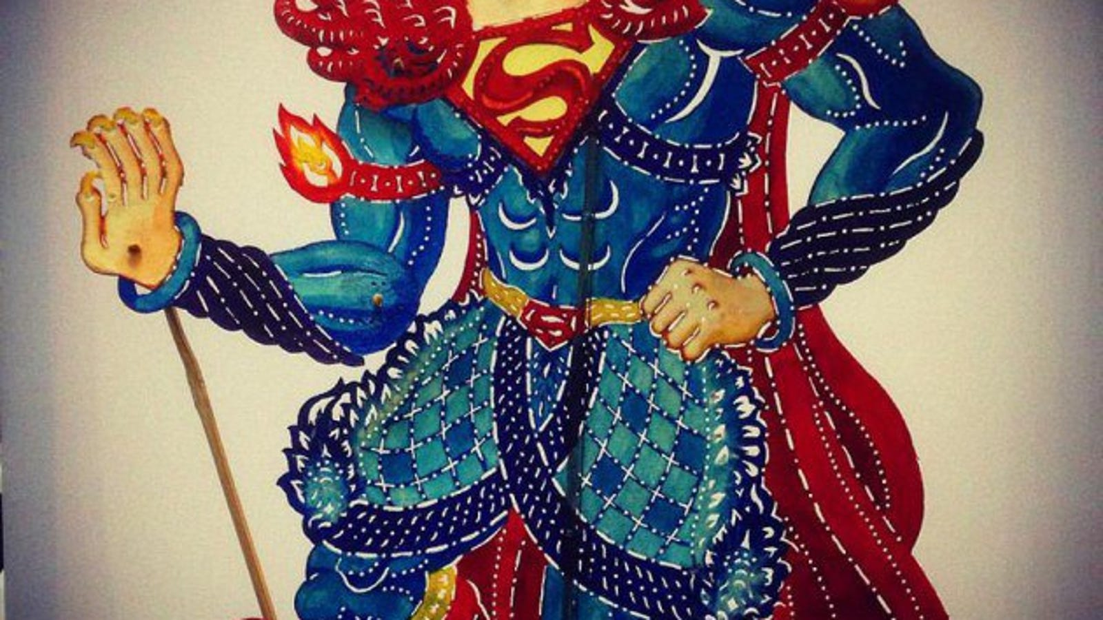 Superhero Shadow Puppets