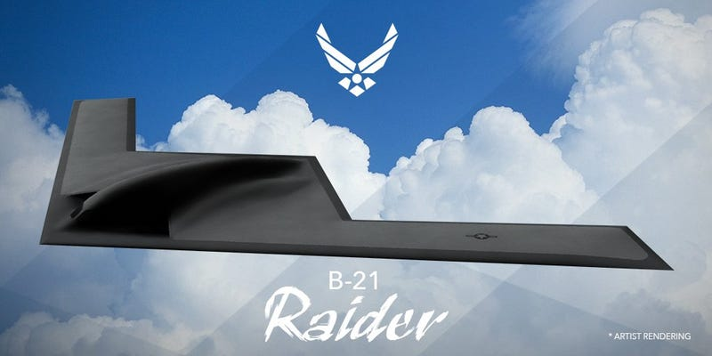 Illustration for article titled America's New Stealth Bomber Is Called the B-21 Raider, Not Bomby McBomberface