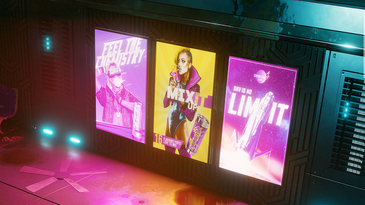 Image result for cyberpunk 2077 trans ad