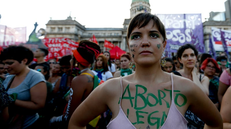 A pro-choice rally in Argentina