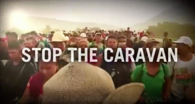 Illustration for article titled Why Did NBC Air Trump's Racist Caravan Ad During Sunday Night Football? [Update]