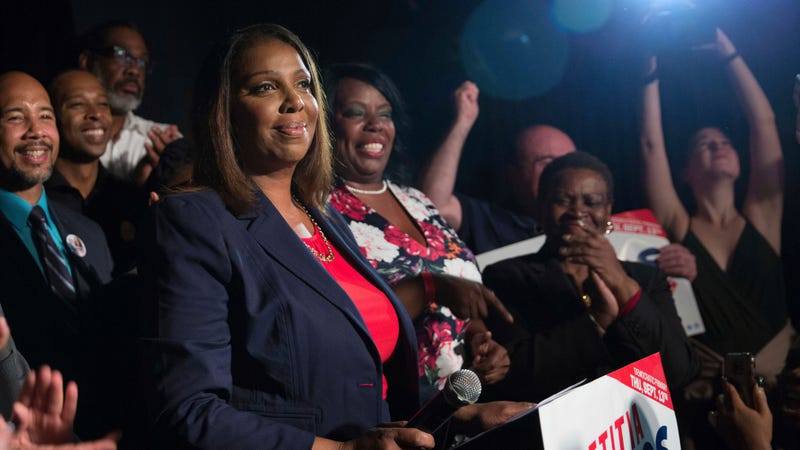 New York Attorney General Letitia James, seen here during the 2018 campaign season.