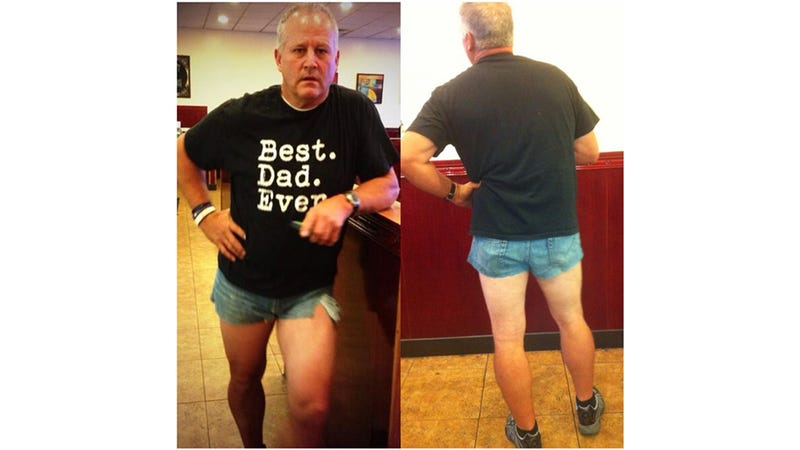 Illustration for article titled Short-Shorts-Wearing Dad Pushes Dangerous 'Modest Is Hottest' Agenda