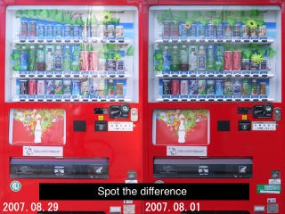 Illustration for article titled The Ultimate Gadget Lover Takes Pics of Same Vending Machine Daily for Two Years