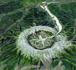 Illustration for article titled This Is Not A Crater, So What Is It?